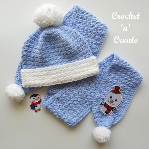 blue scarf set