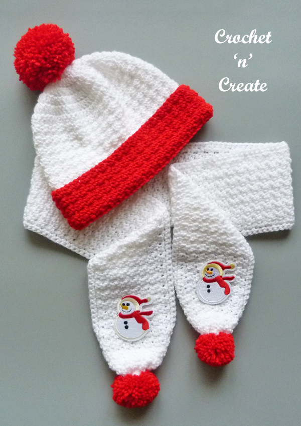 childs scarf set