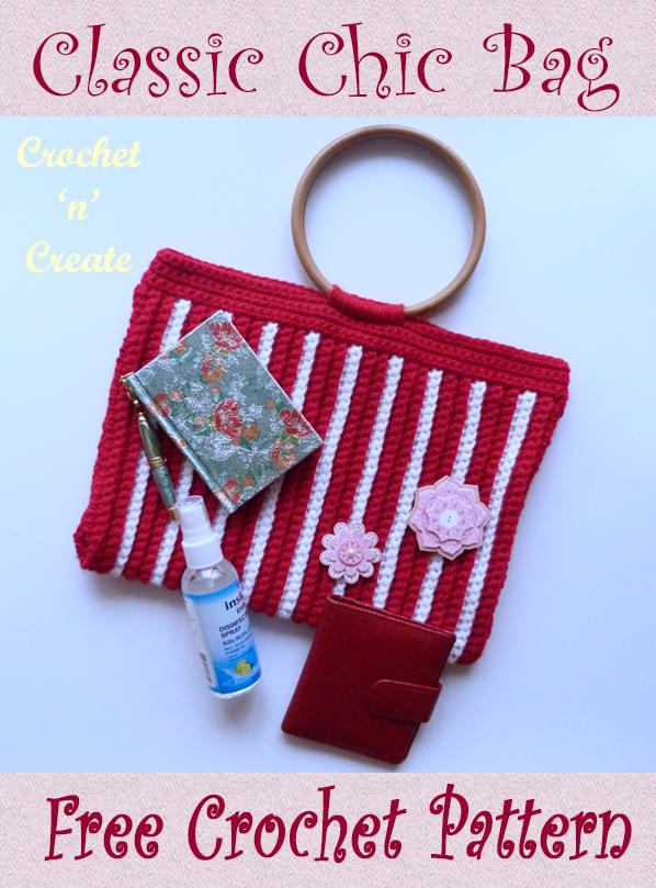classic chic crochet bag