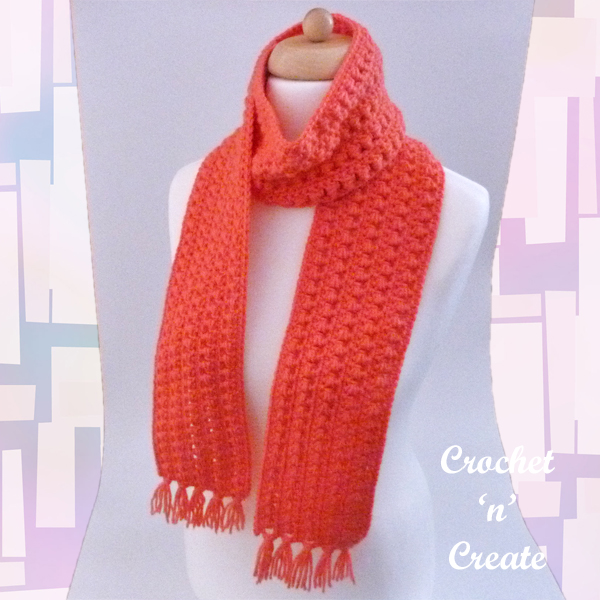 leaning puff crochet scarf