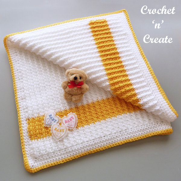 rib crochet baby blanket