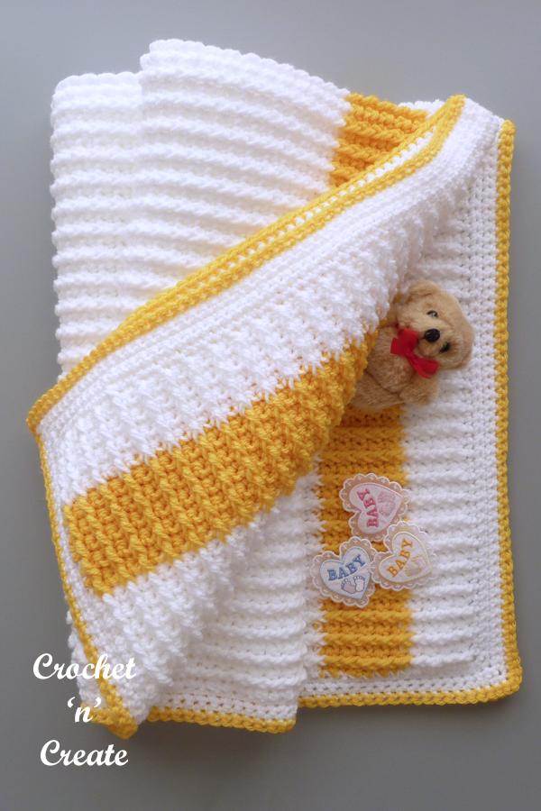 rib baby blanket