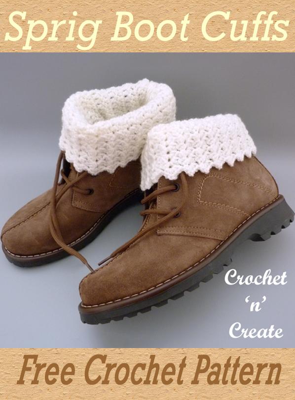 sprig crochet boot cuffs