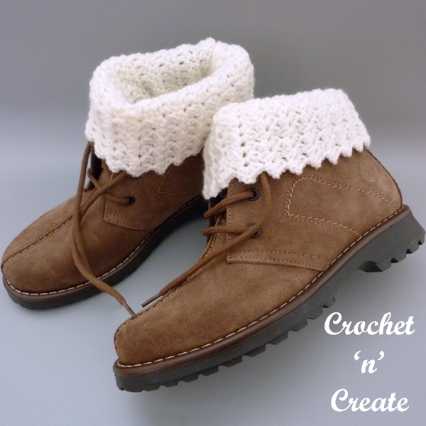 sprig crochet boot cuffs