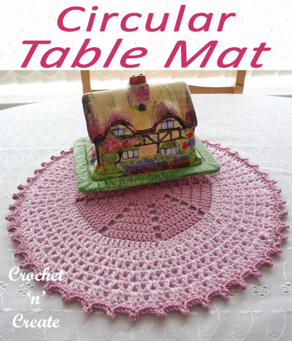 circular table mat