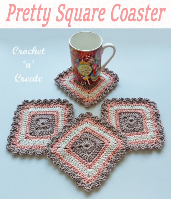 pretty square coaster