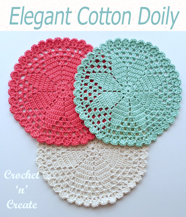 elegant cotton doily