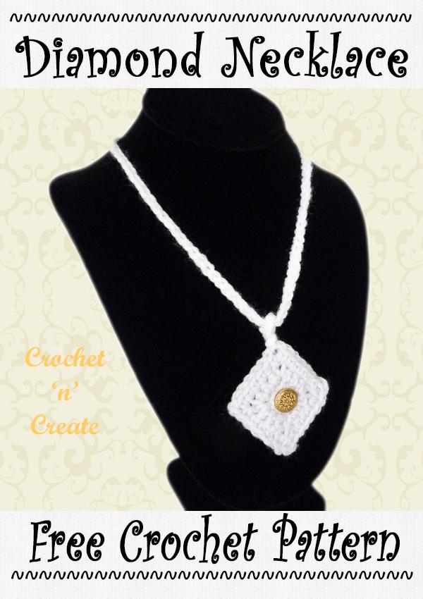 crochet diamond necklace pattern