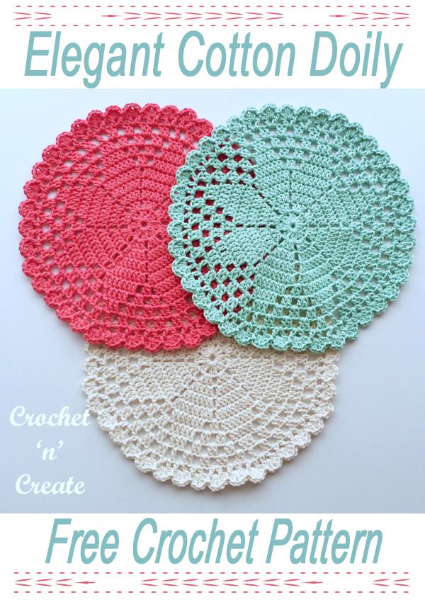 elegant crochet cotton doily