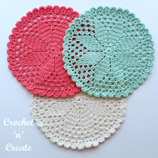 elegant crochet cotton doily