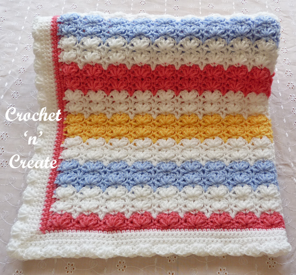 four color baby blanket