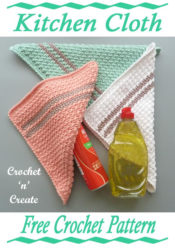 kitchen cloth crochet pattern