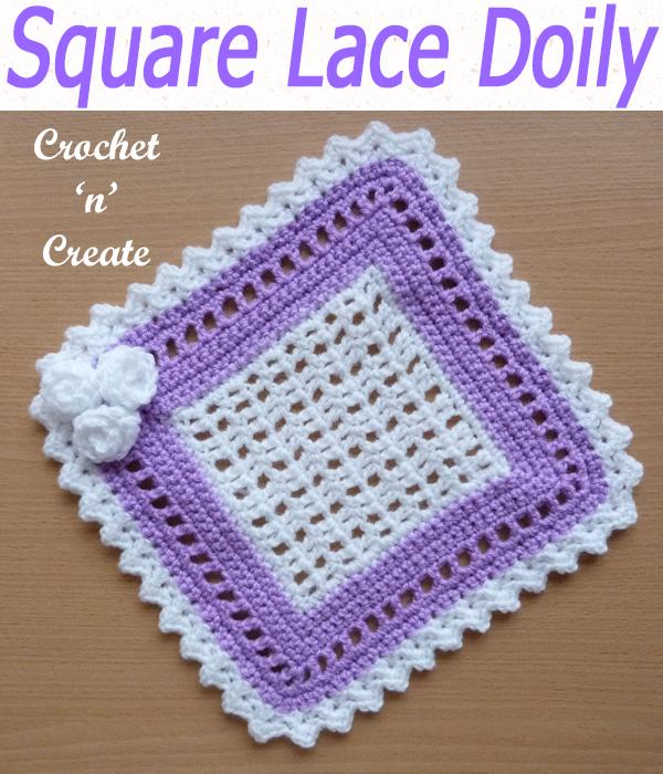 square lace doily