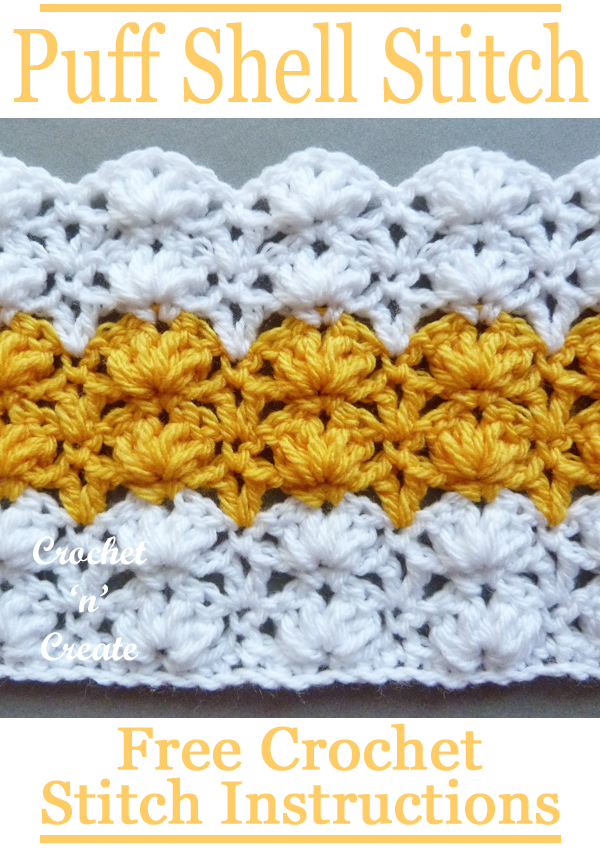 crochet puff shell stitch