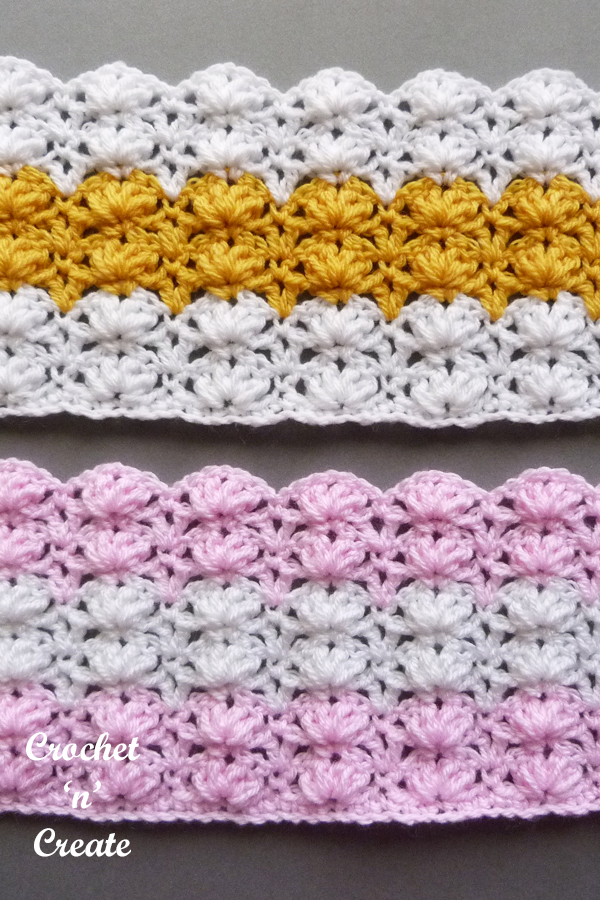 puff shell stitch