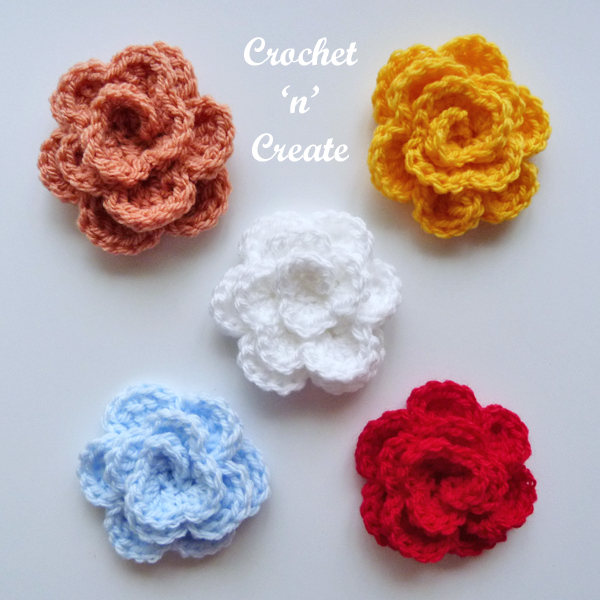 rose applique crochet pattern