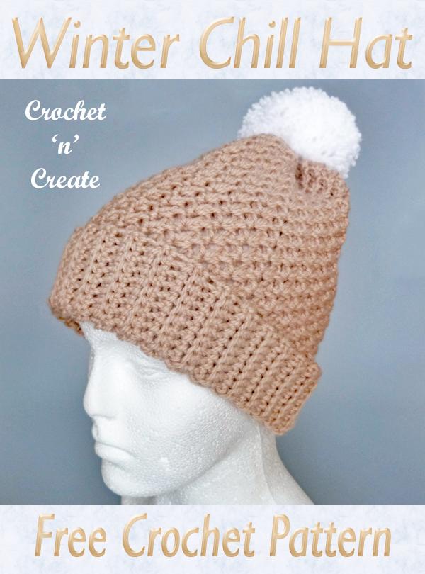 crochet winter chill hat
