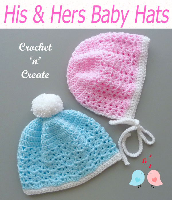 his and hers baby hats