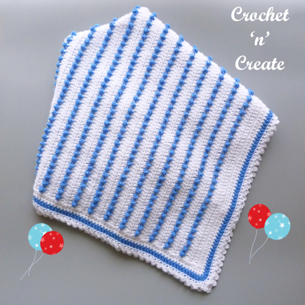 crochet baby crib blanket
