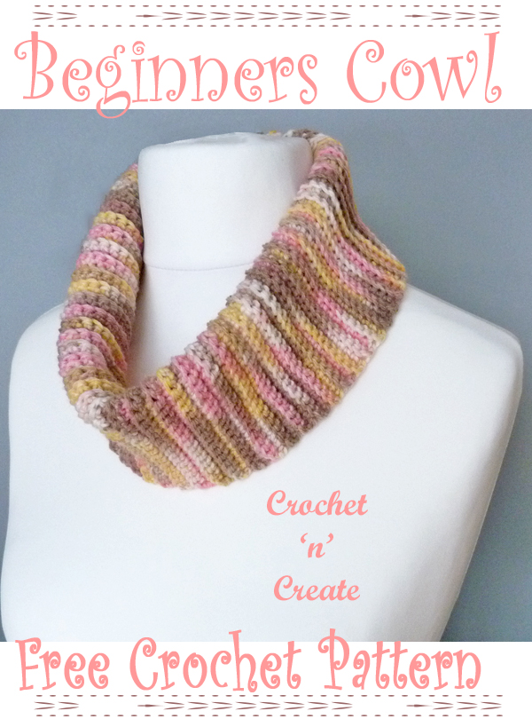 beginners crochet cowl pattern