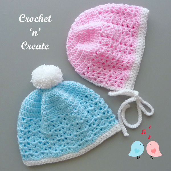 his-hers baby hats