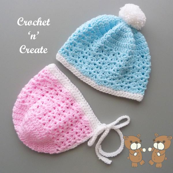 crochet bonnet-beanie