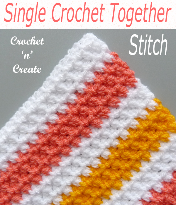 single crochet together stitch