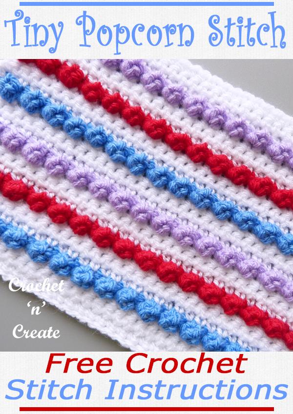tiny popcorn crochet stitch