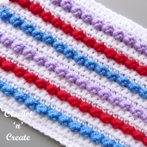 tiny popcorn crochet stitch