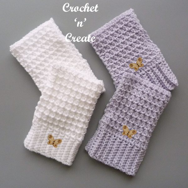 textured mitts