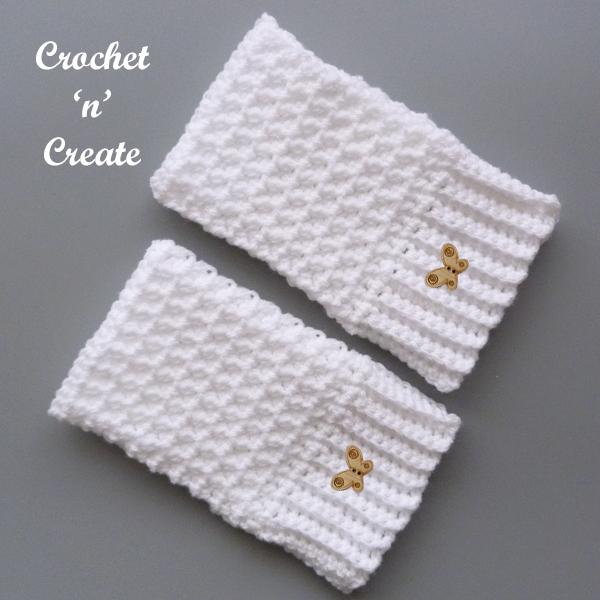 white winter mitts