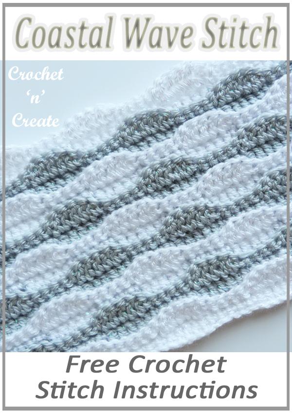 coastal wave stitch tutorial