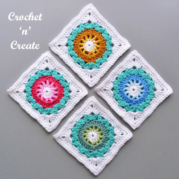 crochet flower power square