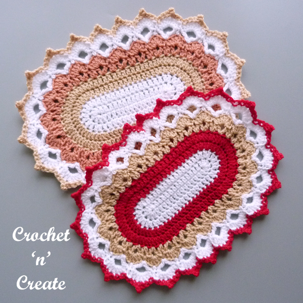 oval picot peaks doily