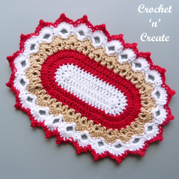 red-brown doily