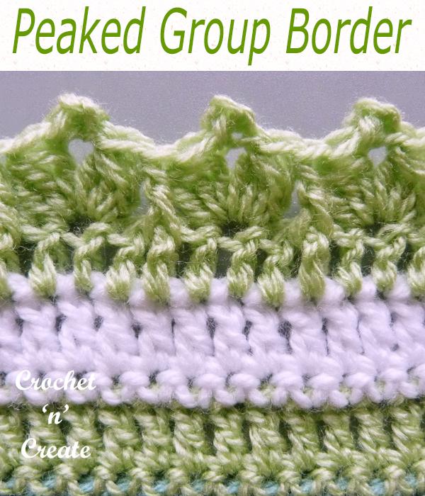 peaked group crochet border
