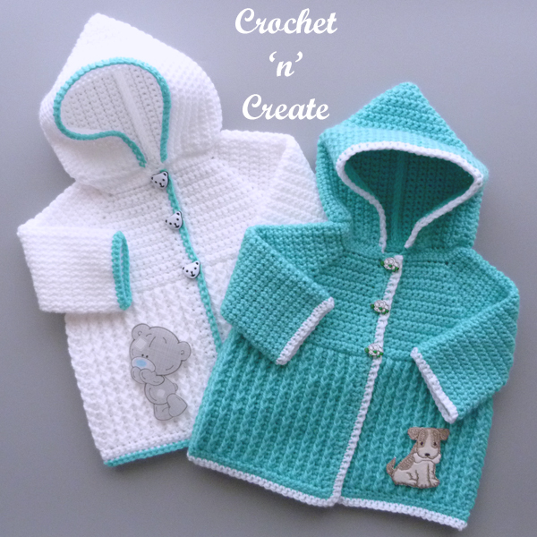 ribbed baby hooded jacket