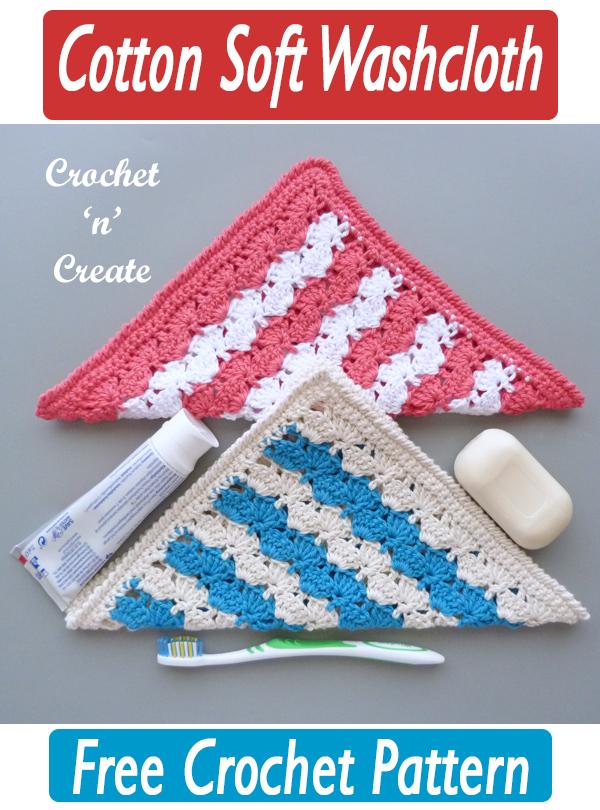 crochet cotton soft washcloth