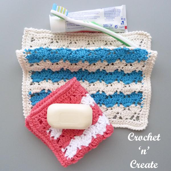free crochet bathroom washcloth pattern