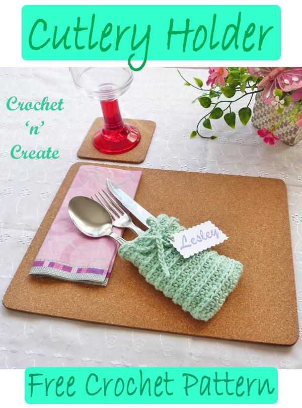 crochet cutlery holder Pattern
