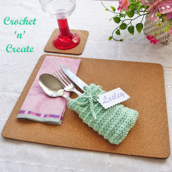 crochet cutlery holder pattern