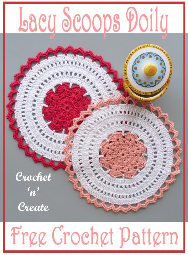 lacy scoops crochet doily