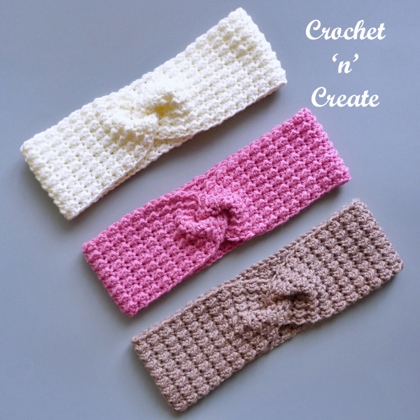 ladies twisted crochet hairband