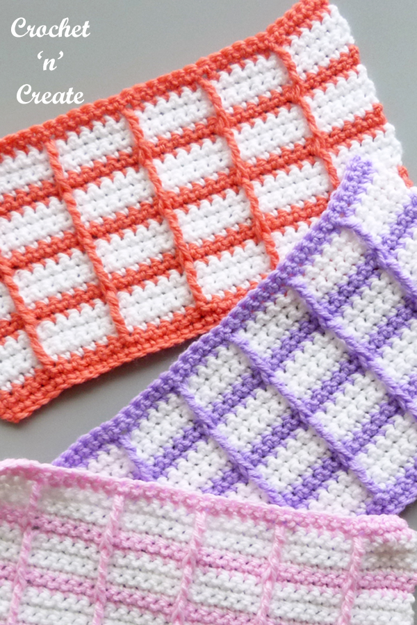 little windows crochet stitch