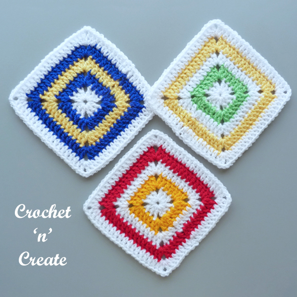 so simple crochet square