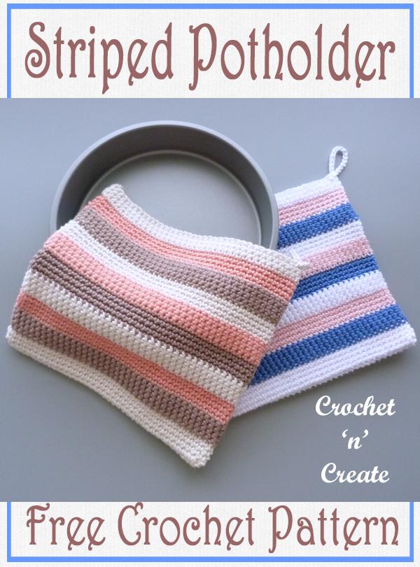 crochet striped potholder pattern