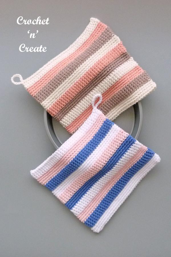 striped potholder