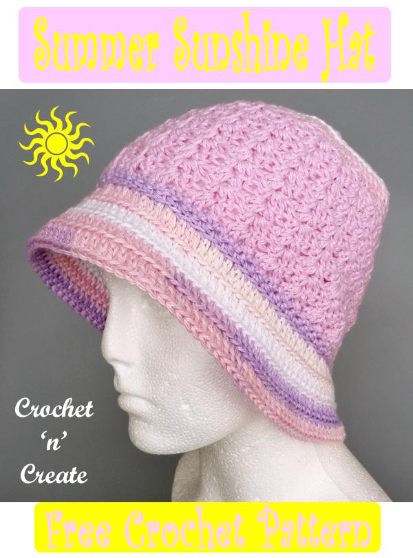 crochet summer sunshine hat