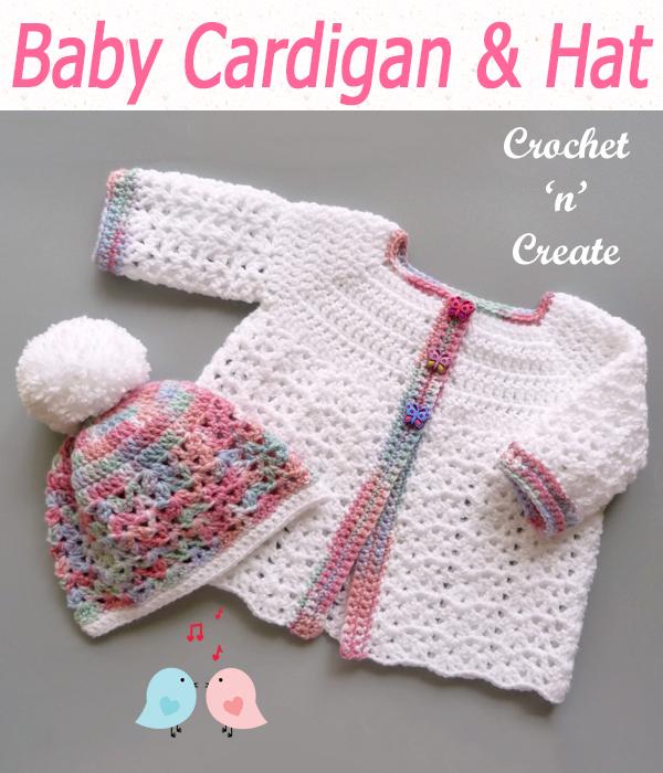 baby cardigan & hat