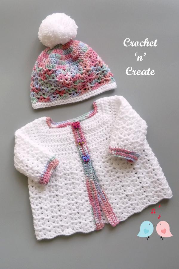 baby cardigan-hat